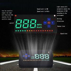 AFFICHAGE PARE-BRISE Voiture HUD GPS Affichage Tête Haute Compteur de V