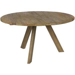 TABLE À MANGER SEULE Table à manger ronde en bois d'orme, coloris natur
