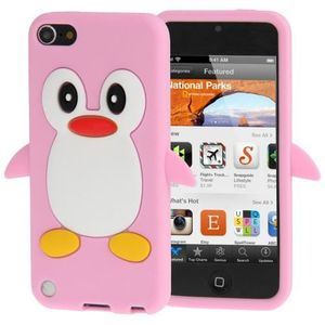 COQUE MP3-MP4 Coque silicone cartoon Pingouin ipod touch 5 rose
