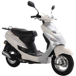 SCOOTER Scooter Euro4 Urban Star 4T - 50 cc - Blanc et arg