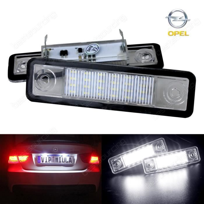 AR 2x Opel Vauxhall Canbus LED plaque d'immatriculation plaque Astra F G Corsa B Omega Tigra Zafira Signum Speedster Vectra VX220