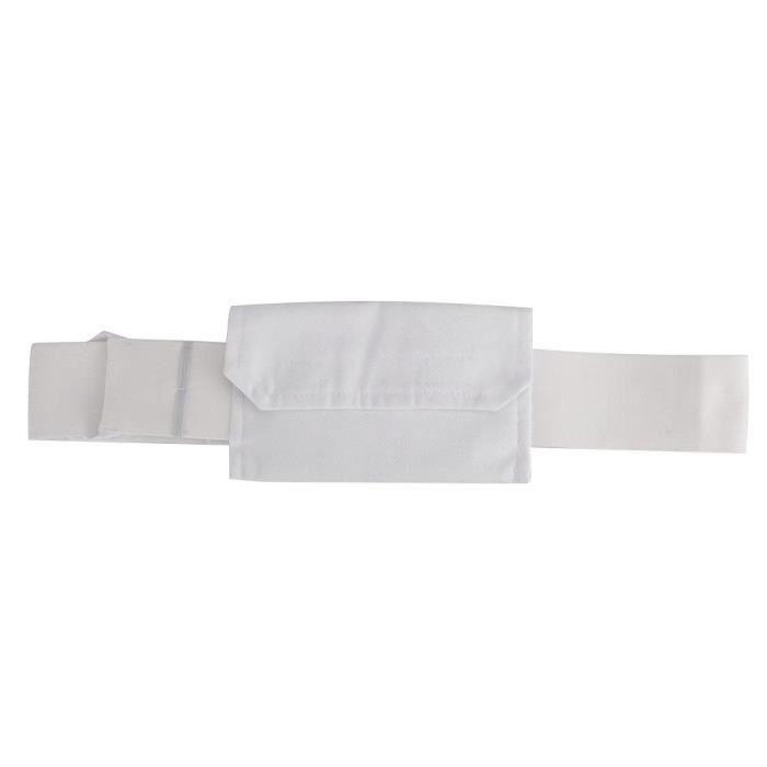 BOYOU Ceinture De Cathéter De Dialyse Péritonéale Ceinture De Protection Réglable Pour Tube Péritonéal Avec Sac (Blanc)