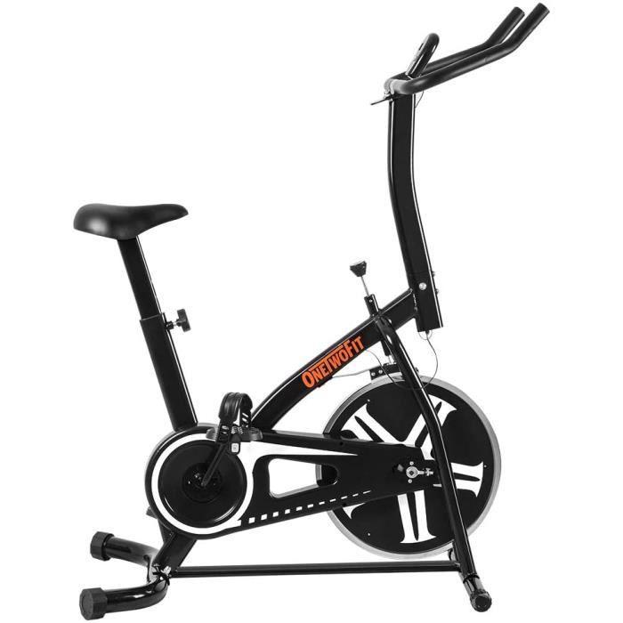ONETWOFIT Vélo d'Appartement Professionnel Vélo d'entrainement Spinning Bike Vélo de Salle Vélo de Fitness, Salle de Sport Utilise U