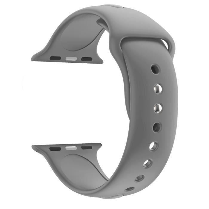 bracelet de montre vendu seul Bracelet de montre en silicone souple pour sports de remplacement pour Apple Watch Series 4 40MM