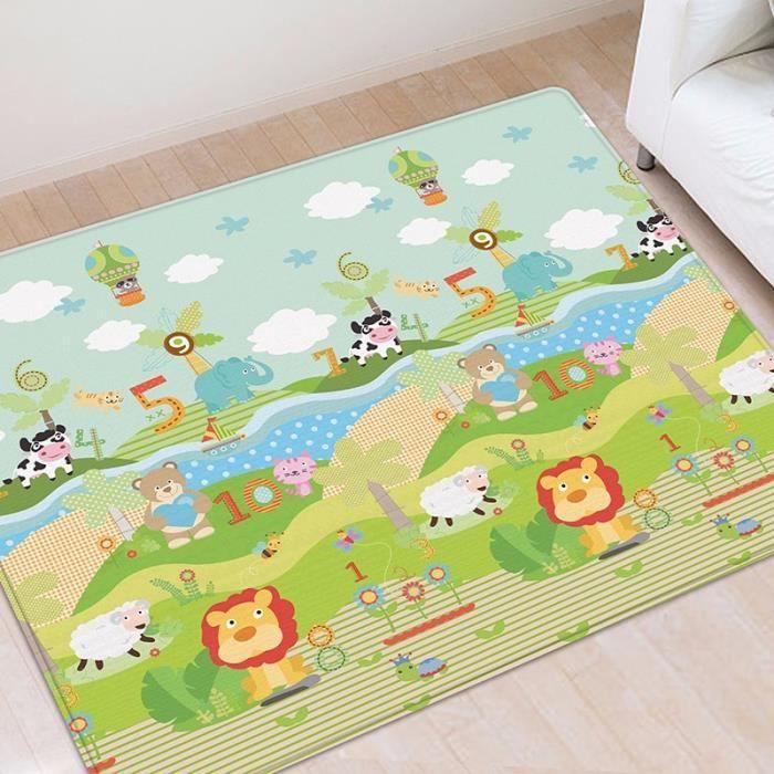 Tapis d'éveil,Nouveau bébé tapis de jeu épais imperméable à l'eau tapis de jeu infantile chambre - Type Number-200cmx180cmx1cm