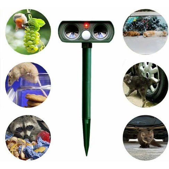 Répulsif solaire pour animaux, anti-oiseaux, anti-chat, anti-chien, animaux errants, anti-ultrasons