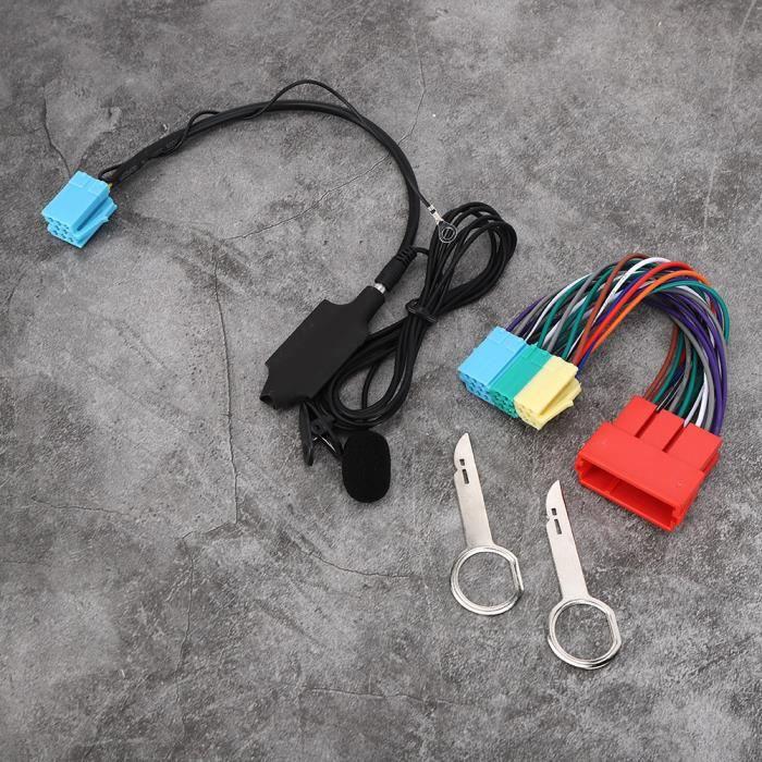 Garosa connecteur d'autoradio Adaptateur Audio Bluetooth avec haut-parleur stéréo de voiture pour Audi A2 A3 8L 8P A4 B5 B6 B7 A6