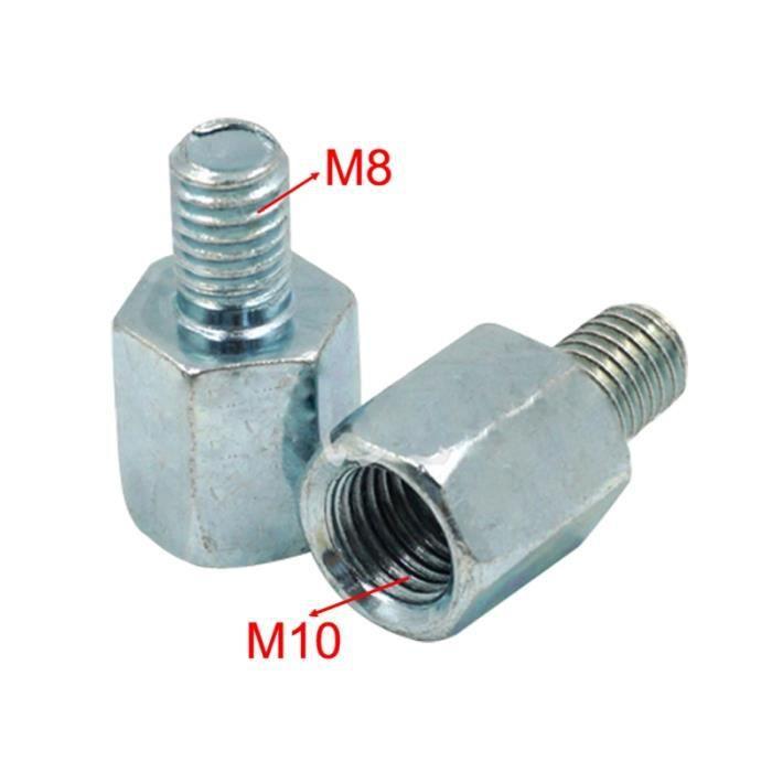 Rétroviseurs et miroirs,Réducteur de filetage M10 M8 convertisseur de rétroviseur de moto, adaptateur de vis de - Type Model B