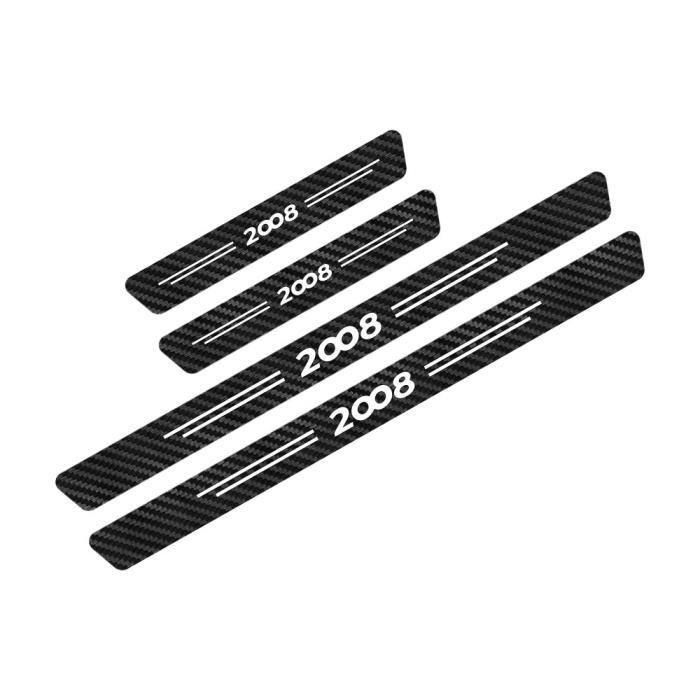 For 2008-Black White -Pour Peugeot 107 108 206 207 208 301 306 307 308 407 408 508 2008 3008 5008 Auto Accessoires Seuil De Porte De