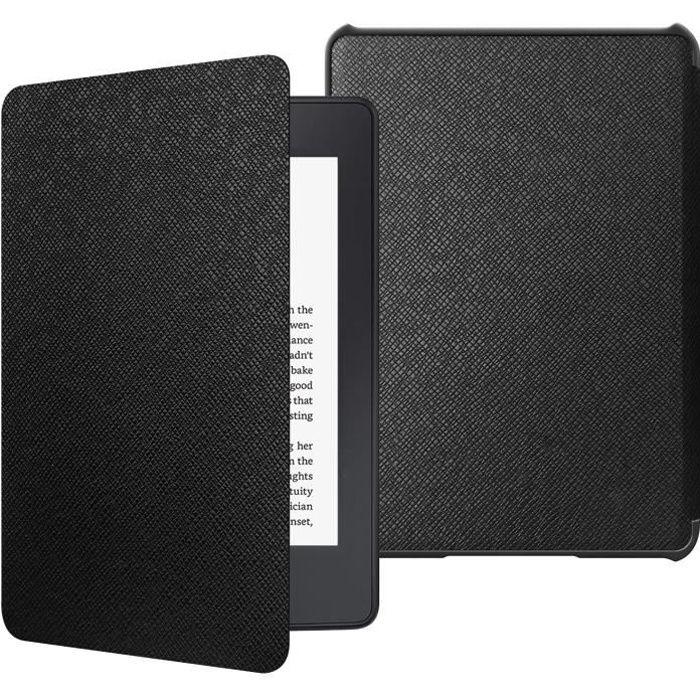 Étui Le Nouveau Kindle Paperwhite (Version 10ème Génération 2018 Seulement), Housse Coque Veille-Réveil Automatique, Noir