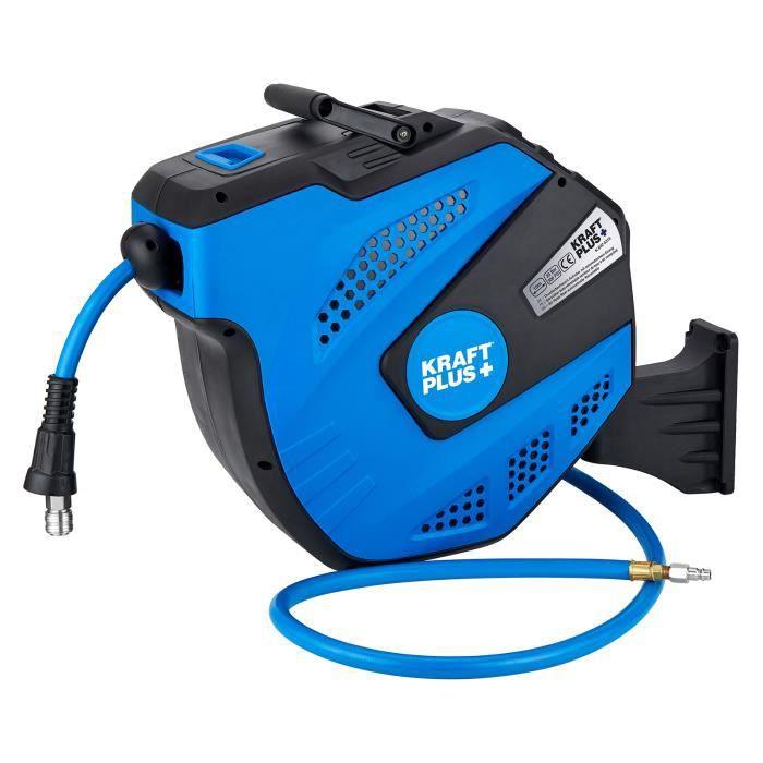 KRAFTPLUS® K.932-5315 Enrouleur à tambour fermé pour air comprimé 1/4-, 15 m, auto-rétractable