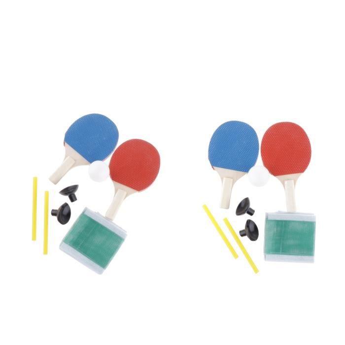 2 Paires De Mini-raquettes De Tennis De Table Durables, Filet De Balle Pratiquant L'équipement De Formateur