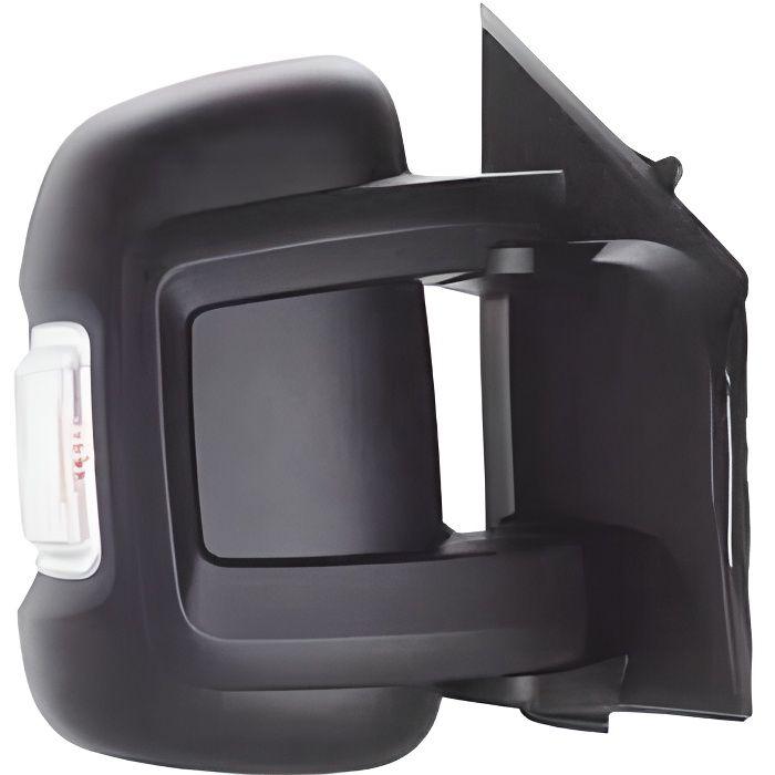 Rétroviseur droit électrique pour PEUGEOT BOXER II ph.2 depuis 2014 gt, bras court, cligno blanc (5W).