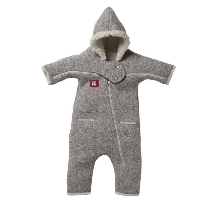 RED CASTLE Combi T-Zip 12-18 mois gris chiné/blanc