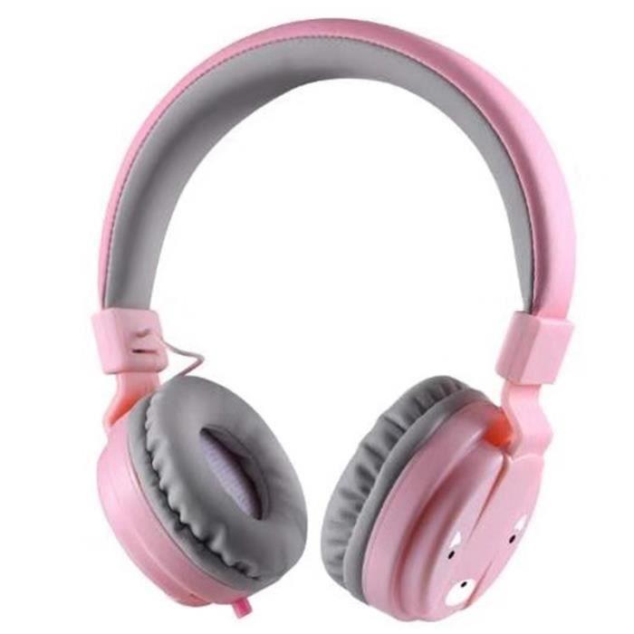Casque Pour Enfants Casque Écouteur Pliable Pour Enfants Casque Filaire de Téléphone Filaire de Contrôle de Fil Pour Fille Garçon