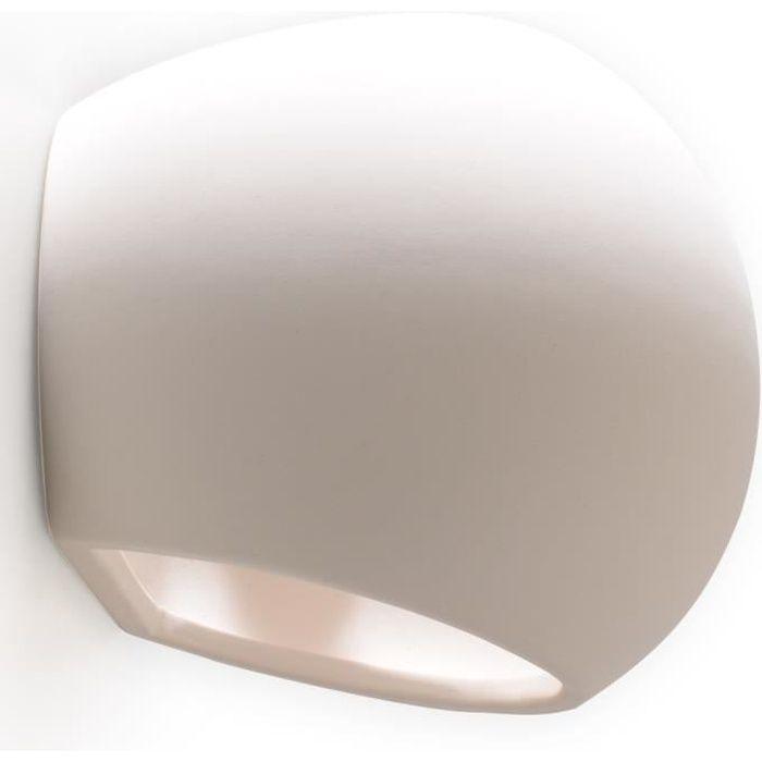 Applique Murale Céramique GLOBE Lampe Murale Moderne Design pr Chambre Salon Escalier Couloir - Blanc