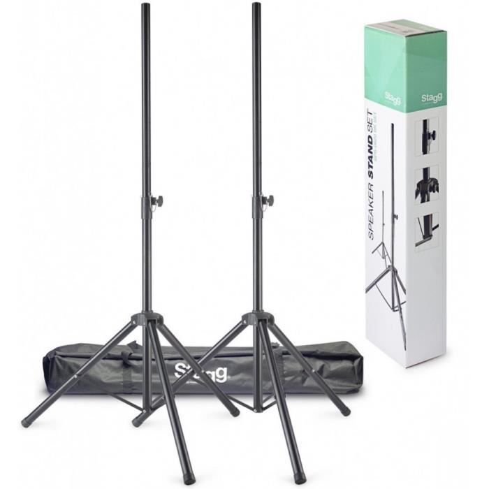 2 Stands Enceintes Stagg SPS-0620 BK