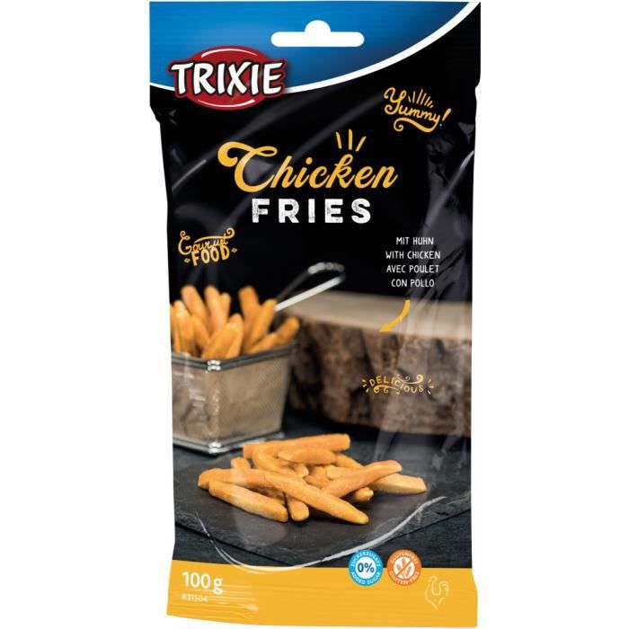 Chicken Fries au poulet. Pour chiens. Poids 100g.-Trixie 3,000000