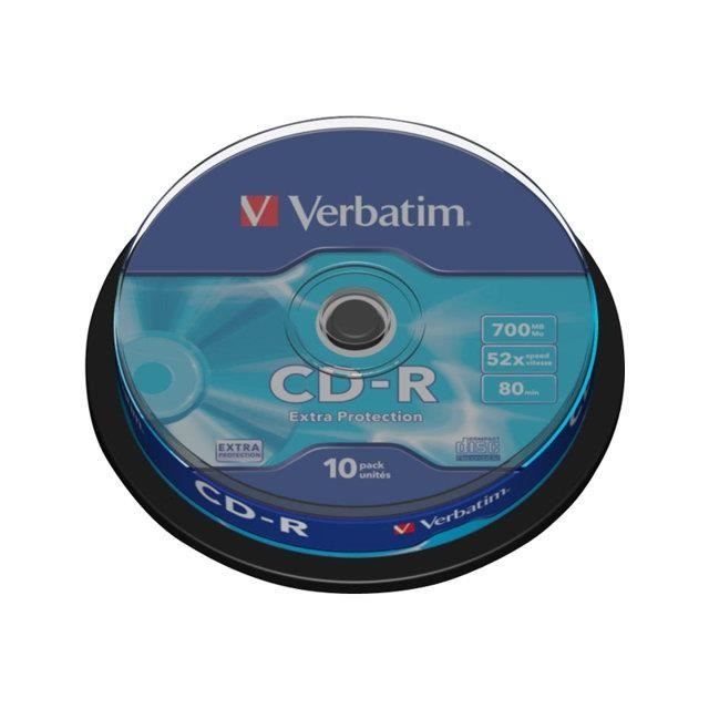 CD vierges Verbatim P10 52x 80 Min SPINDLE
