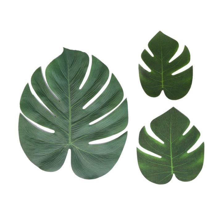 36 pcs Simulation Tortue Feuilles Artificielle Vivid Creative Brésil Monstera Plantes Vertes pour Patio Jardin AQUARIUM