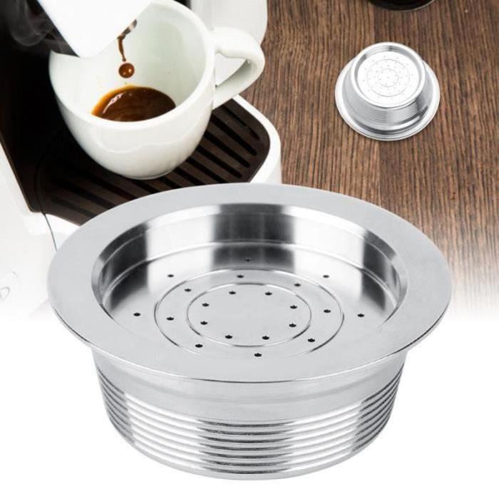 ZS27737-Capsule de café réutilisable rechargeable d'acier inoxydable avec la cuillère compatible pour pour LAVAZZA MIO HY3397 HB