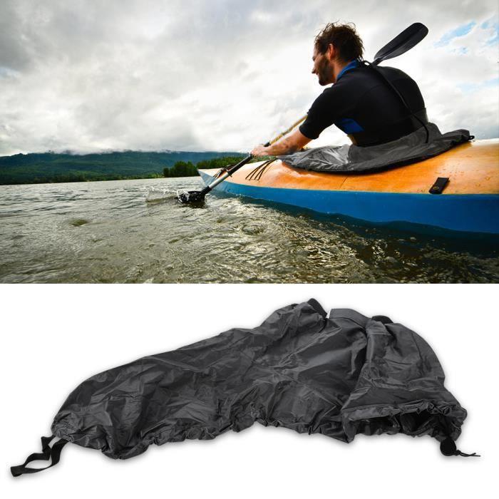 Universel Étui Protection Coverture Réglable avec Sangle Élastique Jupe Jet Kayak Canoë Bateau gris