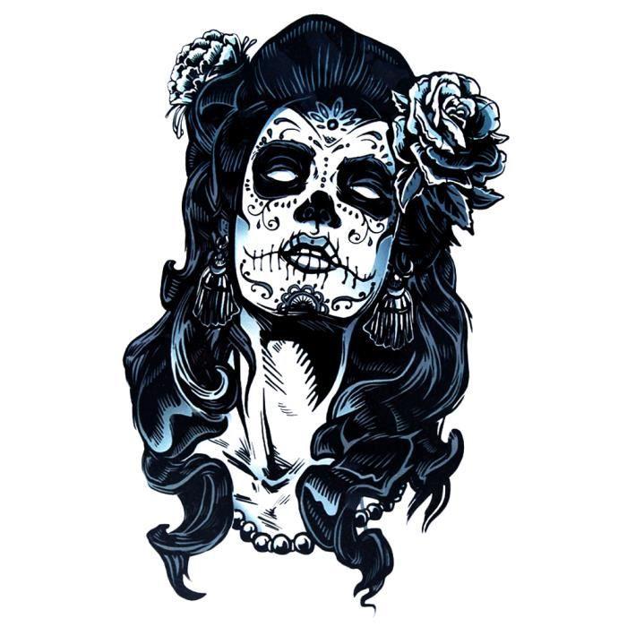Tatouage Faux Tete De Mort La Belle Mexicaine