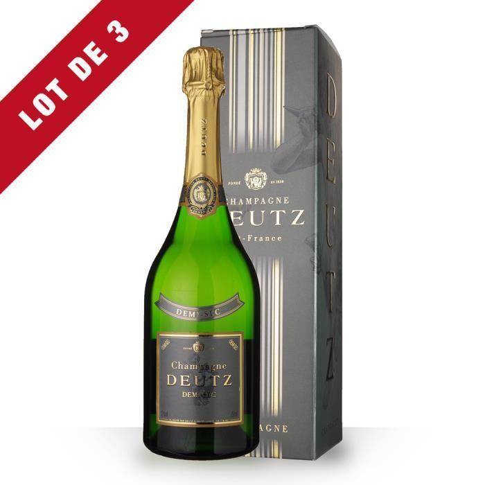 CHAMPAGNE 3X Deutz Demi-Sec 75cl - Etui - Champagne