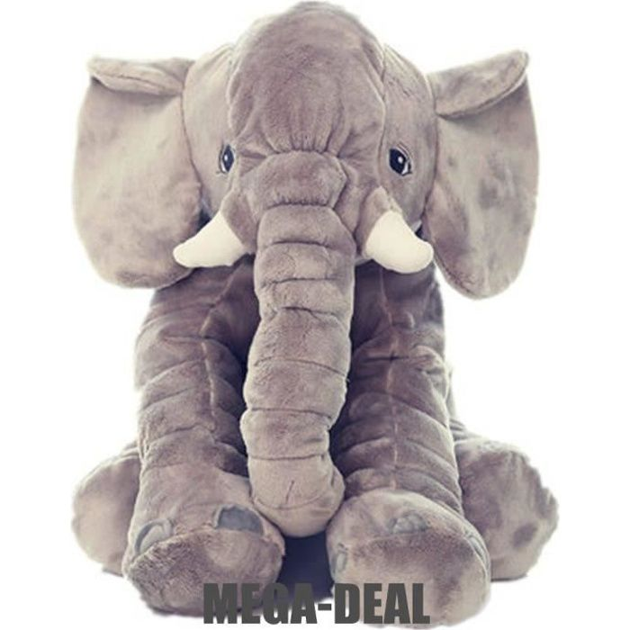 mega deal elephant coussin animal mignon oreiller l phant 100 coton peluche peluche nouveaut. Black Bedroom Furniture Sets. Home Design Ideas