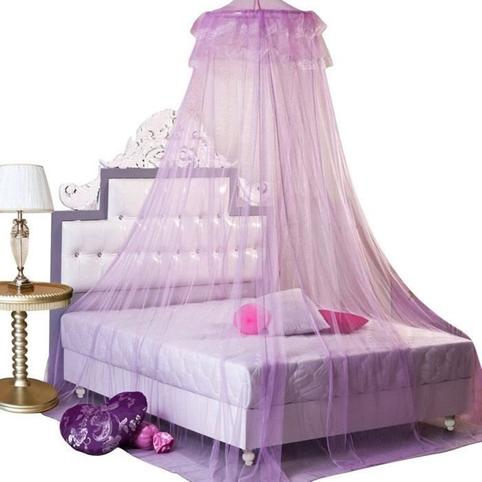 moustiquaire violet moustiquaire ciel de lit avec dentelle. Black Bedroom Furniture Sets. Home Design Ideas