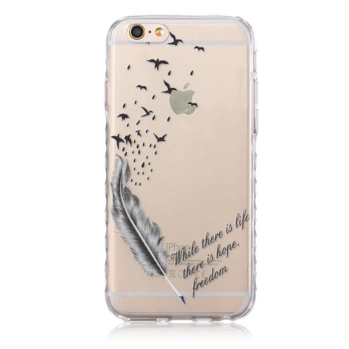 coque iphone 6 plume