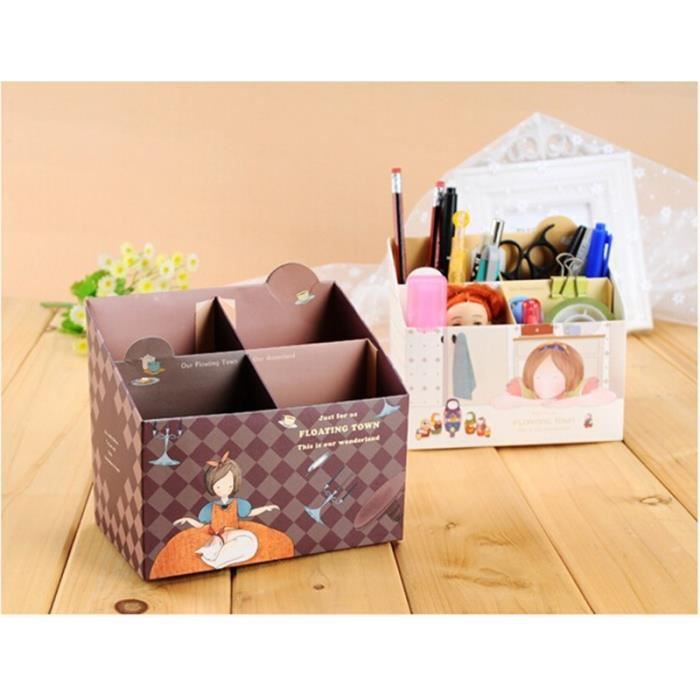 mini bo te rangement en papier bricolage bureau. Black Bedroom Furniture Sets. Home Design Ideas