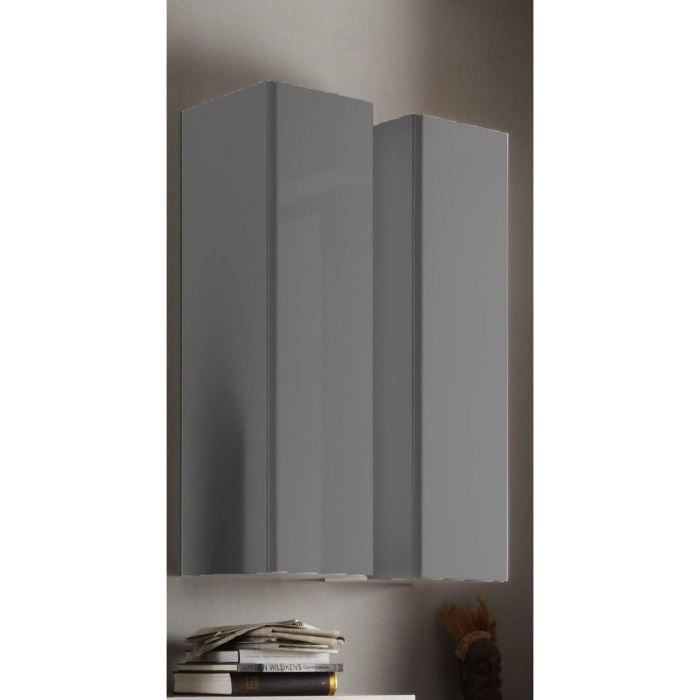 Colonne murale design laqu e gris boston 226 g achat for Meuble 5 etoile salon