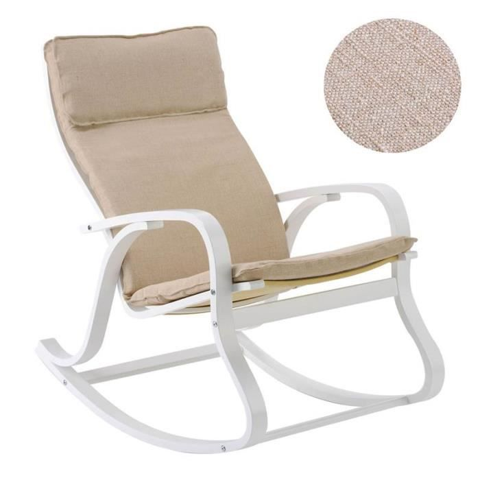 rocking chair h fauteuil bascul bois lin ficelle achat vente fauteuil beige cdiscount. Black Bedroom Furniture Sets. Home Design Ideas