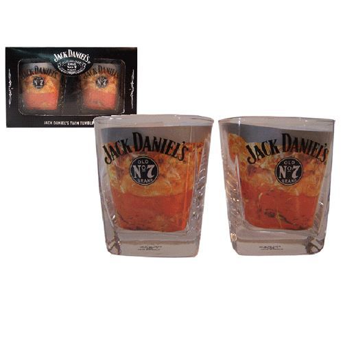 coffret 2 verres jack daniels car interior design. Black Bedroom Furniture Sets. Home Design Ideas