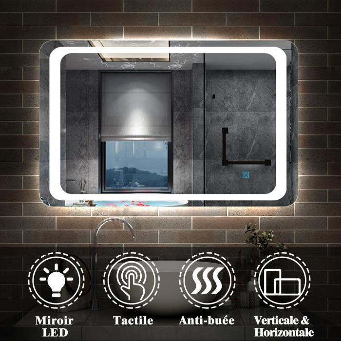 Miroir de salle de bain led