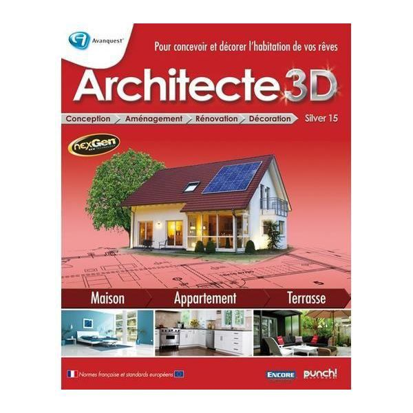 avanquest architecte 3d silver 15 prix pas cher cdiscount. Black Bedroom Furniture Sets. Home Design Ideas