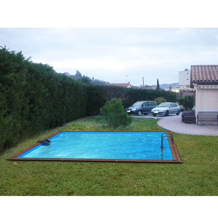 Waterclip piscine bois alu 460x460x147 optimum achat for Achat piscine bois