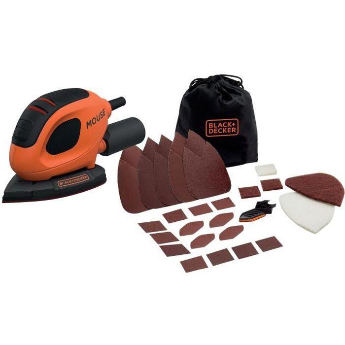 PONCEUSE - POLISSEUSE BLACK & DECKER Ponceuse de detail mouse - 55 watts