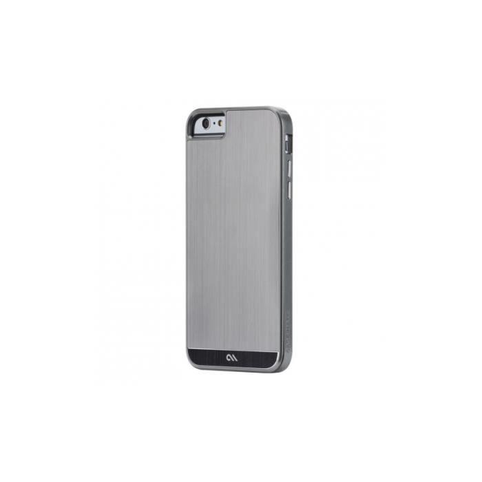 coque iphone 6 plus brushed aluminium gris noir ca