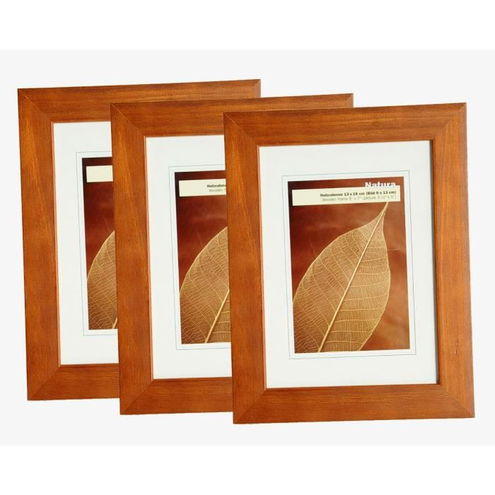 lot de 3 cadres photo natura 20x30 achat vente cadre photo cdiscount. Black Bedroom Furniture Sets. Home Design Ideas