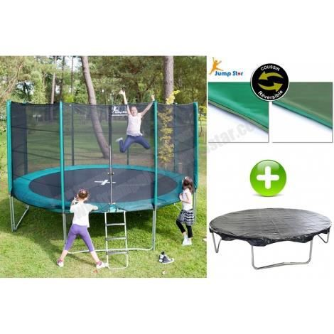 pack trampoline jumpstar 370 cm b che protection achat vente trampoline pack trampoline. Black Bedroom Furniture Sets. Home Design Ideas