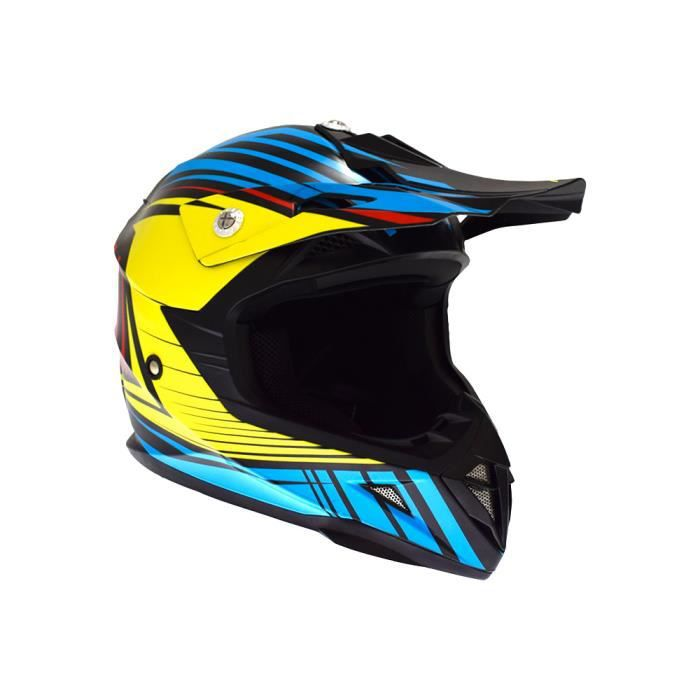 1db6e49fb32fa0 CASQUE MOTO SCOOTER Casque Cross Enfant ATRAX Radial - Rouge   Bleu