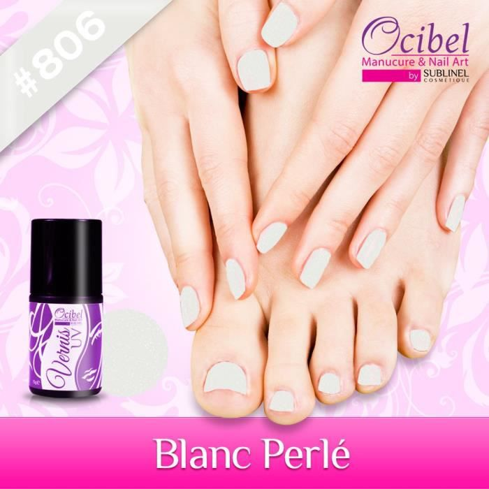 vernis uv led permanent 15ml blanc perl achat vente vernis a ongles vernis uv 15ml blanc. Black Bedroom Furniture Sets. Home Design Ideas