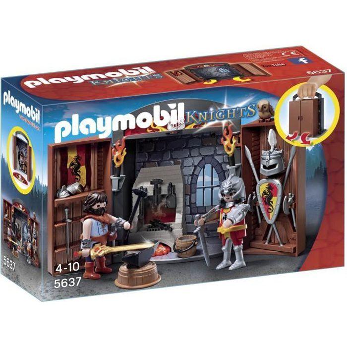 Photo de playmobil-5637-knights-coffre-chevalier-et-forgeron