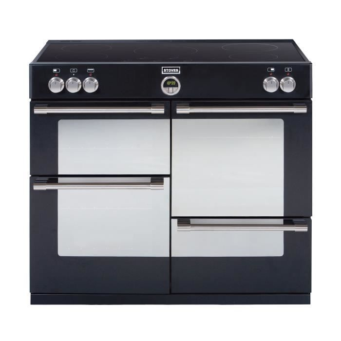 Stoves pster110eiblk piano de cuisson table induction 5 for Refrigerateur beko noir miroir