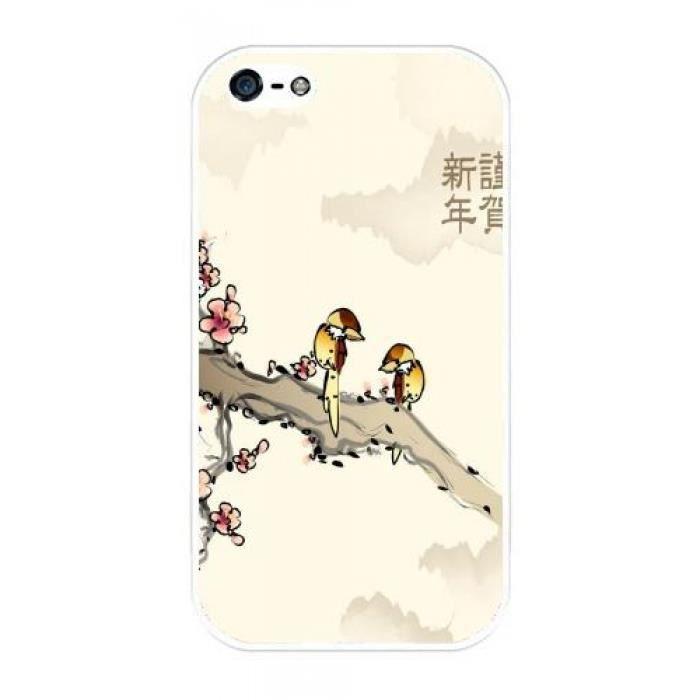 coque iphone 4 4s dessin oiseau japonais 688