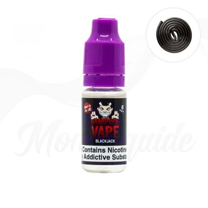 LIQUIDE 10ml Blackjack de Vampire Vape 6 mg