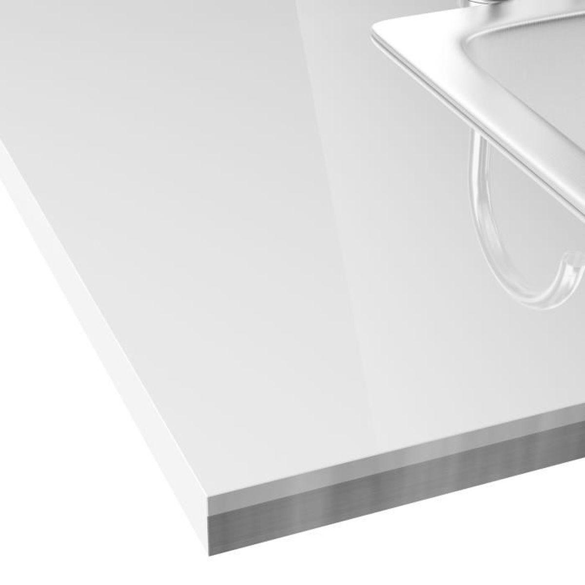 Plan De Travail Laminé classic cuisine plan de travail stratifié bicolore blanc