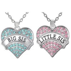 SAUTOIR ET COLLIER Big Sis des femmes Lil Sis '' Big & petite soeur C